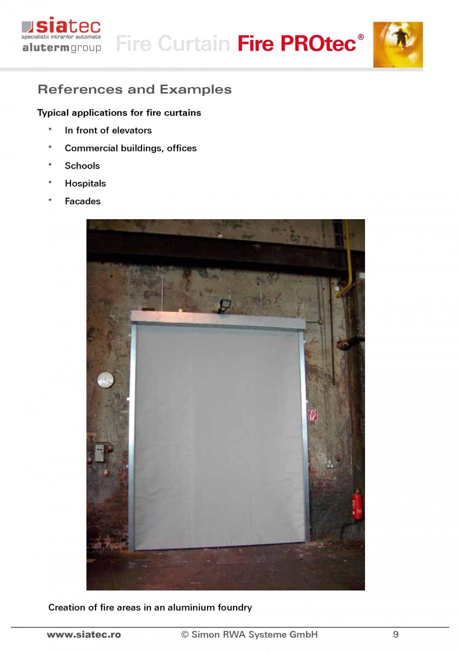Fisa tehnica Cortine antifoc FSV SIATEC Cortine automate rezistente la foc ALUTERM GROUP  - Pagina 10