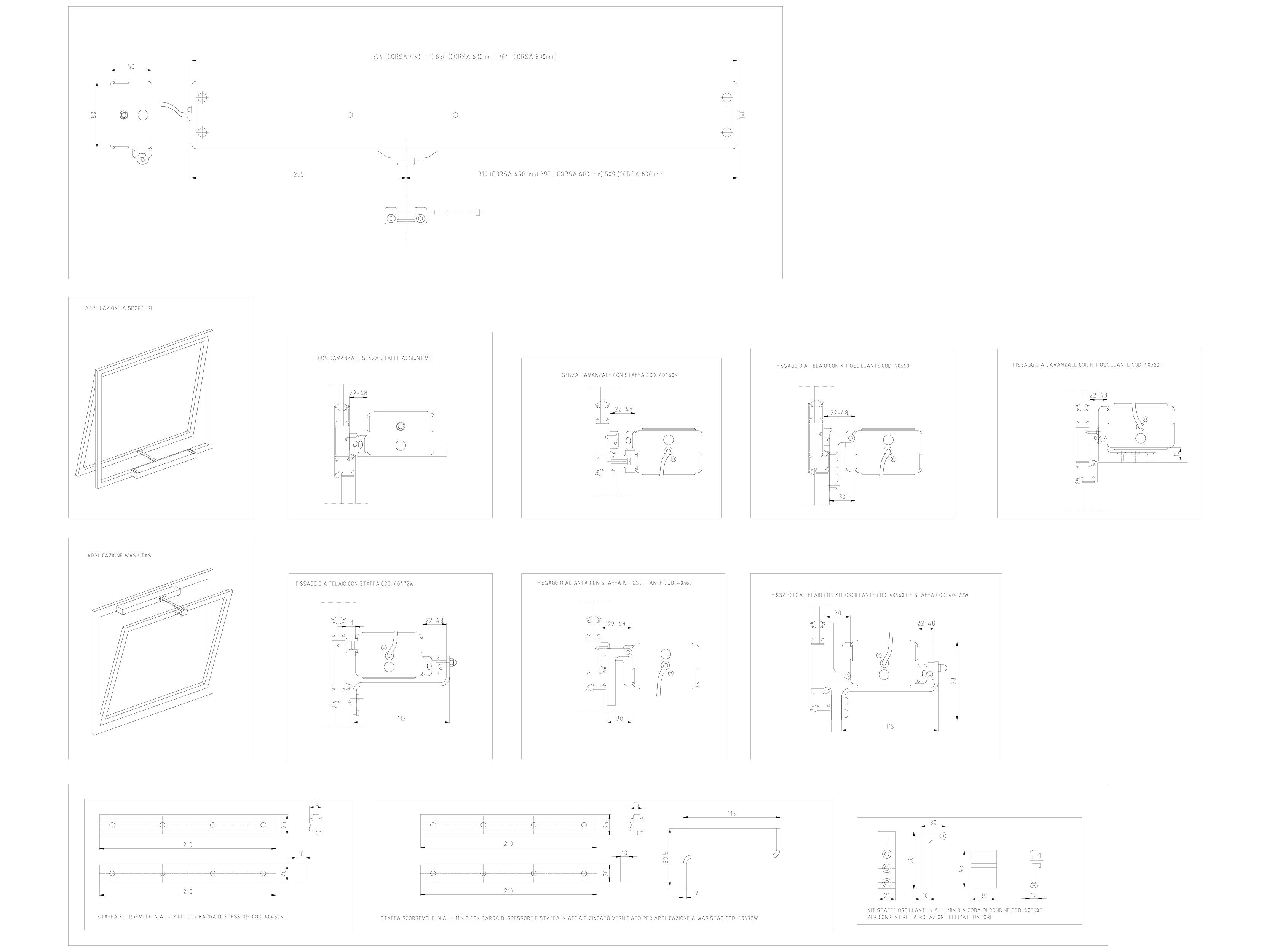 Pagina 1 - CAD-DWG Actuator electric cu lant SUPERMASTER cursa maxima 800mm KADRA Detaliu de montaj