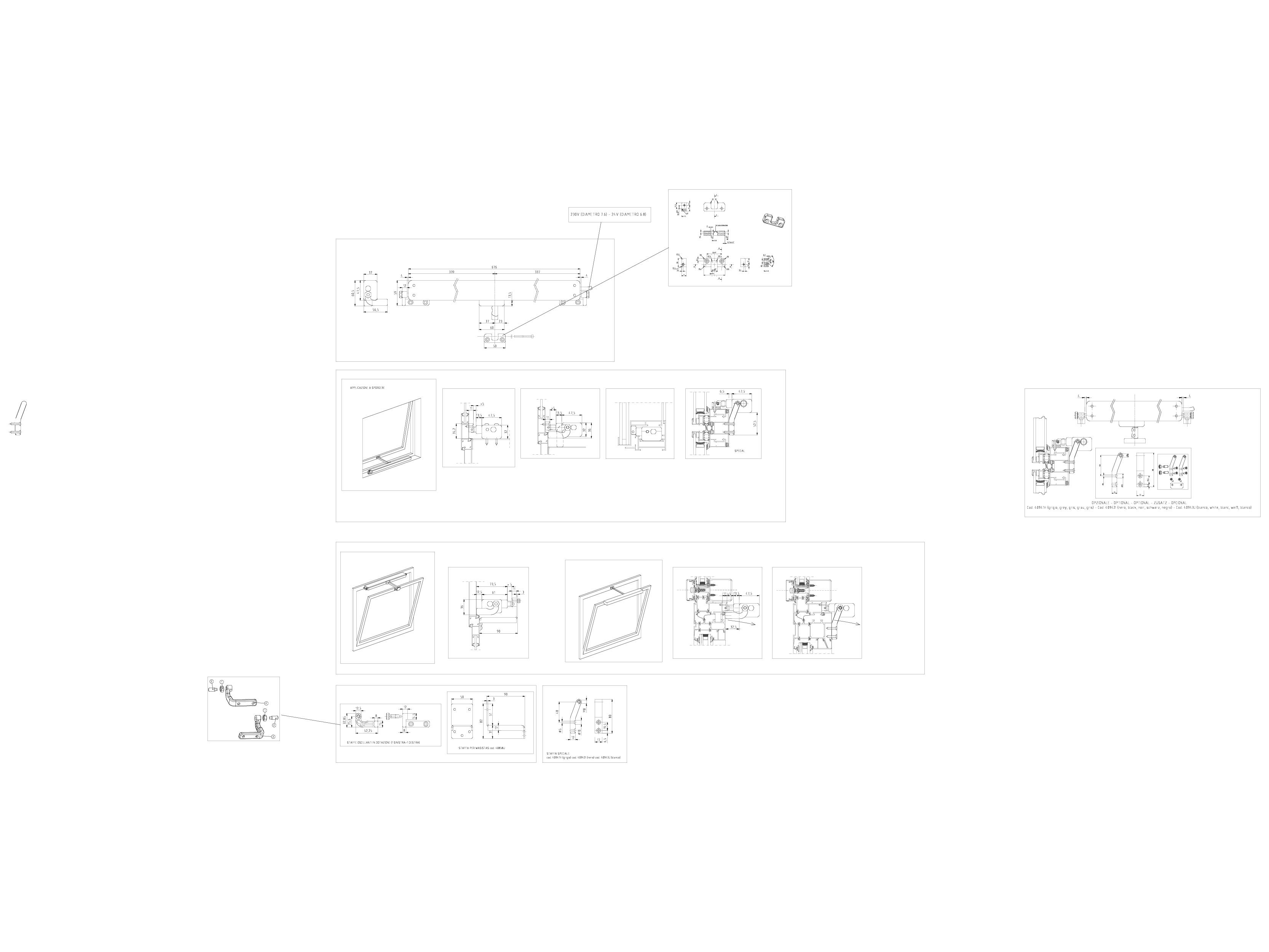 Pagina 1 - CAD-DWG Actuator electric cu lant: cursa maxima 500 mm KADRA Detaliu de montaj QUASAR