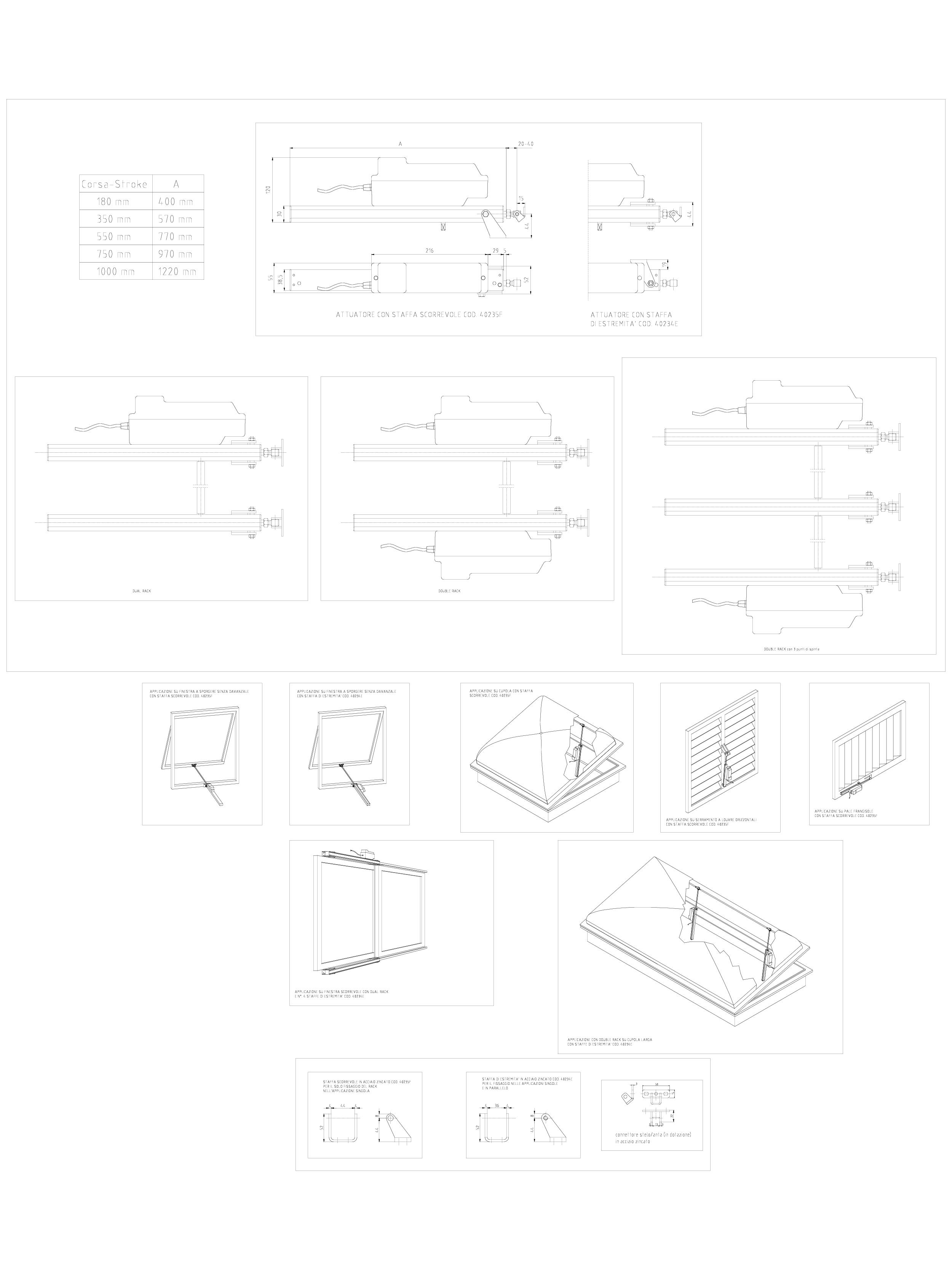 Pagina 1 - CAD-PDF Actuator electric liniar cu cremaliera RACK-DUAL RACK - DOUBLE RACK cursa maxima ...