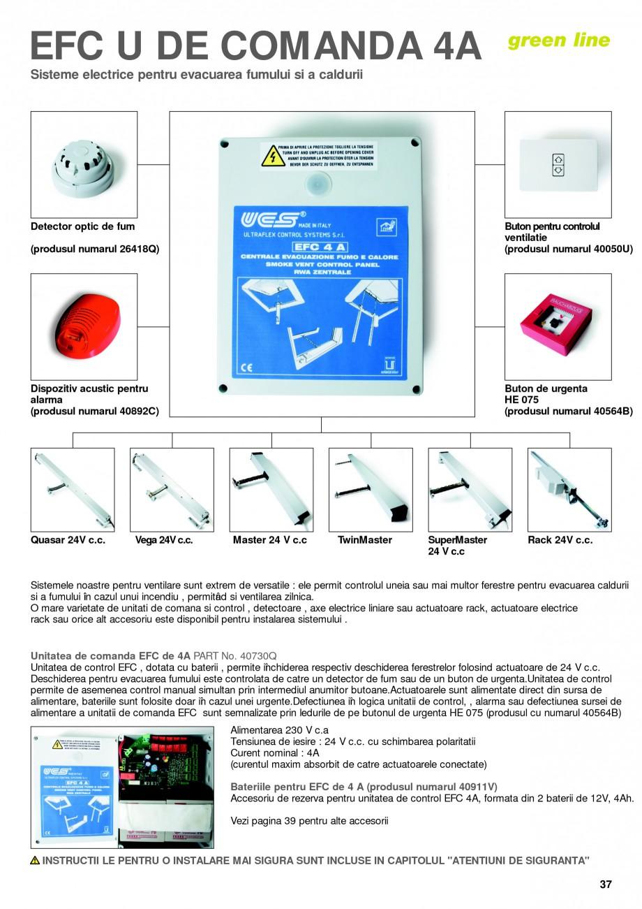 Pagina 36 - Sisteme pentru ventilatie si evacuare fum / caldura KADRA Catalog, brosura Romana  â...