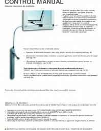 Operatori de control pentru actuatorii de ferestre