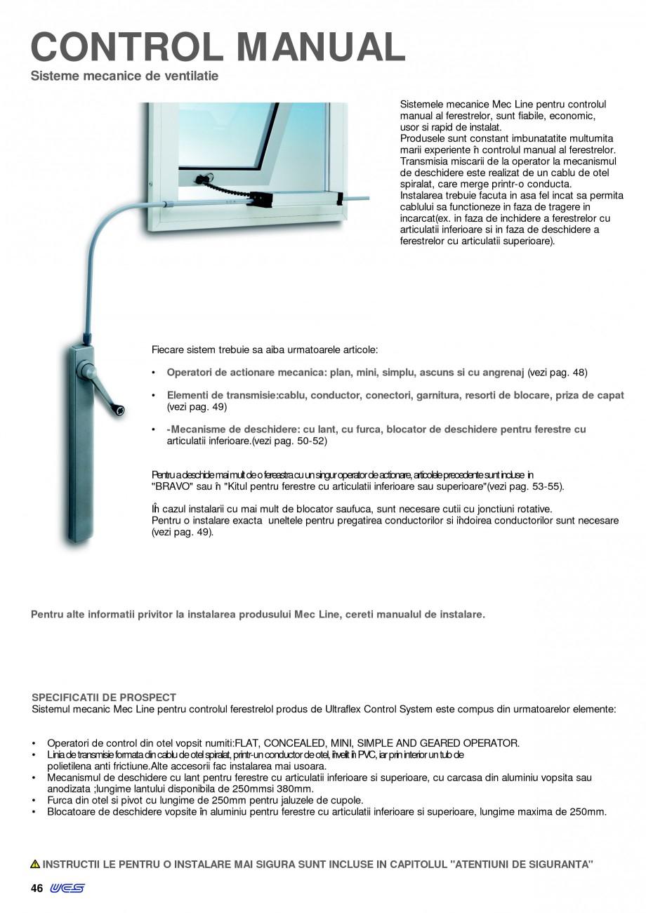 Pagina 1 - Operatori de control pentru actuatorii de ferestre KADRA Catalog, brosura Romana CONTROL ...