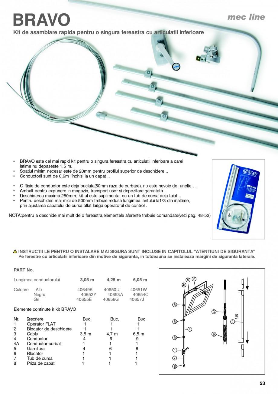 Pagina 8 - Operatori de control pentru actuatorii de ferestre KADRA Catalog, brosura Romana b 30767D...