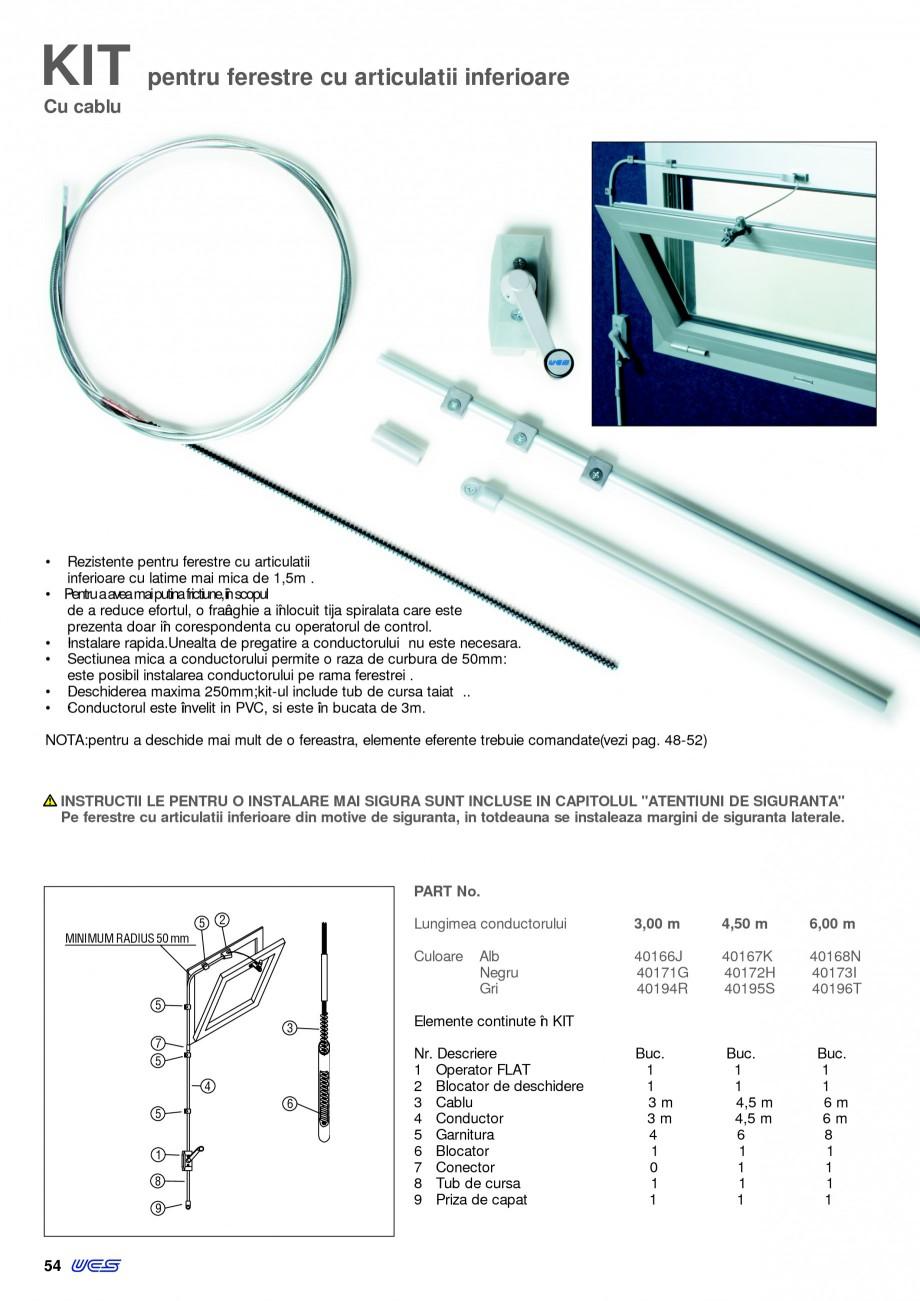 Pagina 9 - Operatori de control pentru actuatorii de ferestre KADRA Catalog, brosura Romana  Raza de...