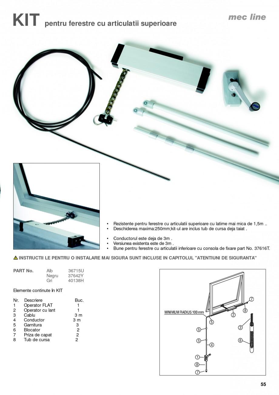 Pagina 10 - Operatori de control pentru actuatorii de ferestre KADRA Catalog, brosura Romana le de...
