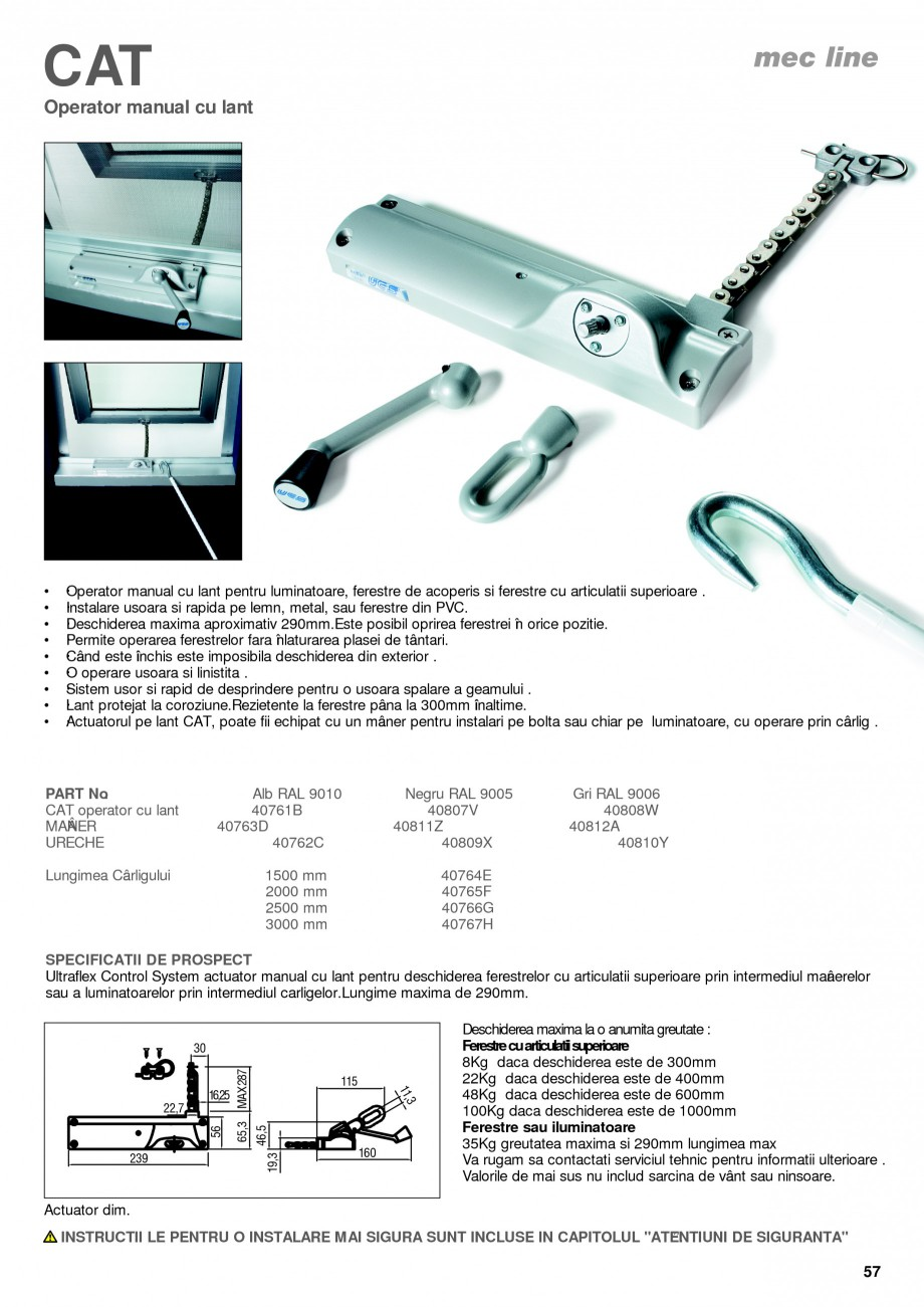 Pagina 12 - Operatori de control pentru actuatorii de ferestre KADRA Catalog, brosura Romana 6M...