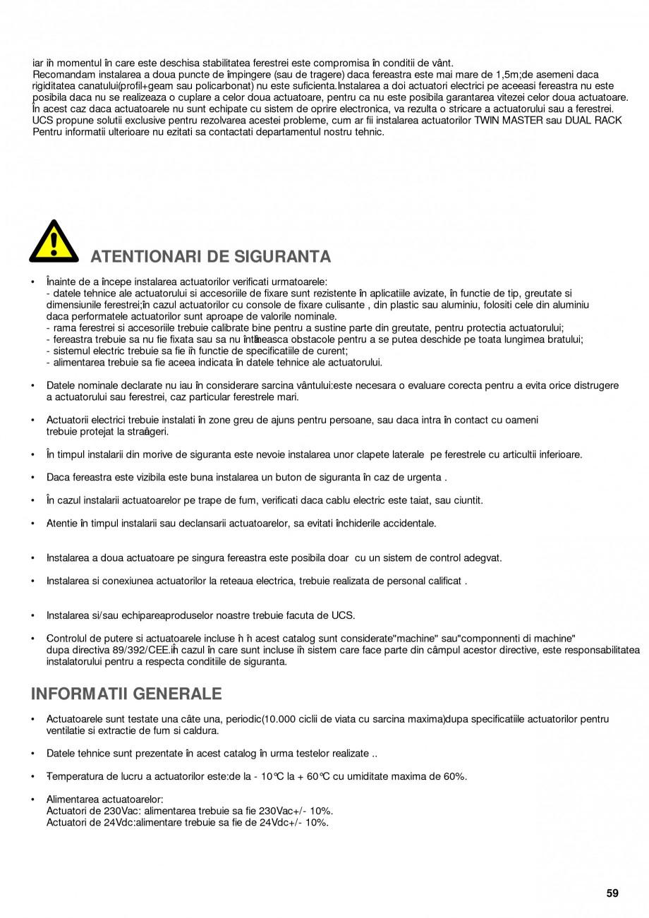Pagina 14 - Operatori de control pentru actuatorii de ferestre KADRA Catalog, brosura Romana me, · ...
