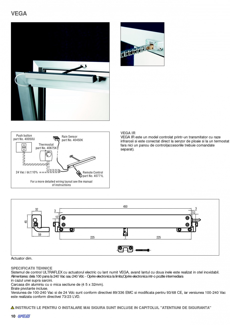 Pagina 7 -  Automatizari profesionale pentru ferestre KADRA Catalog, brosura Romana 8U  Telecomanda ...