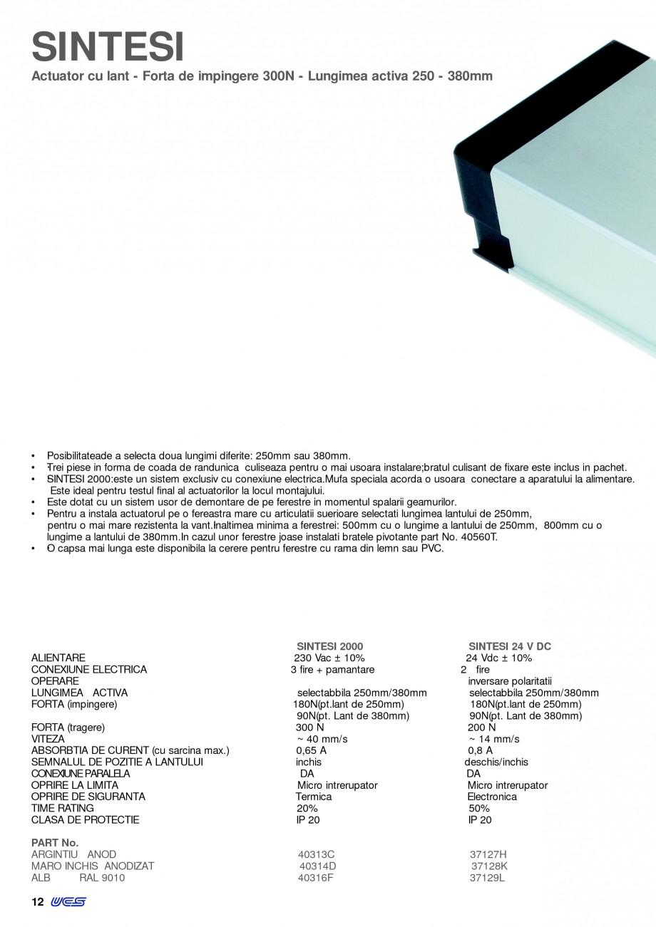 Pagina 9 -  Automatizari profesionale pentru ferestre KADRA Catalog, brosura Romana 13  SINTESI  82...