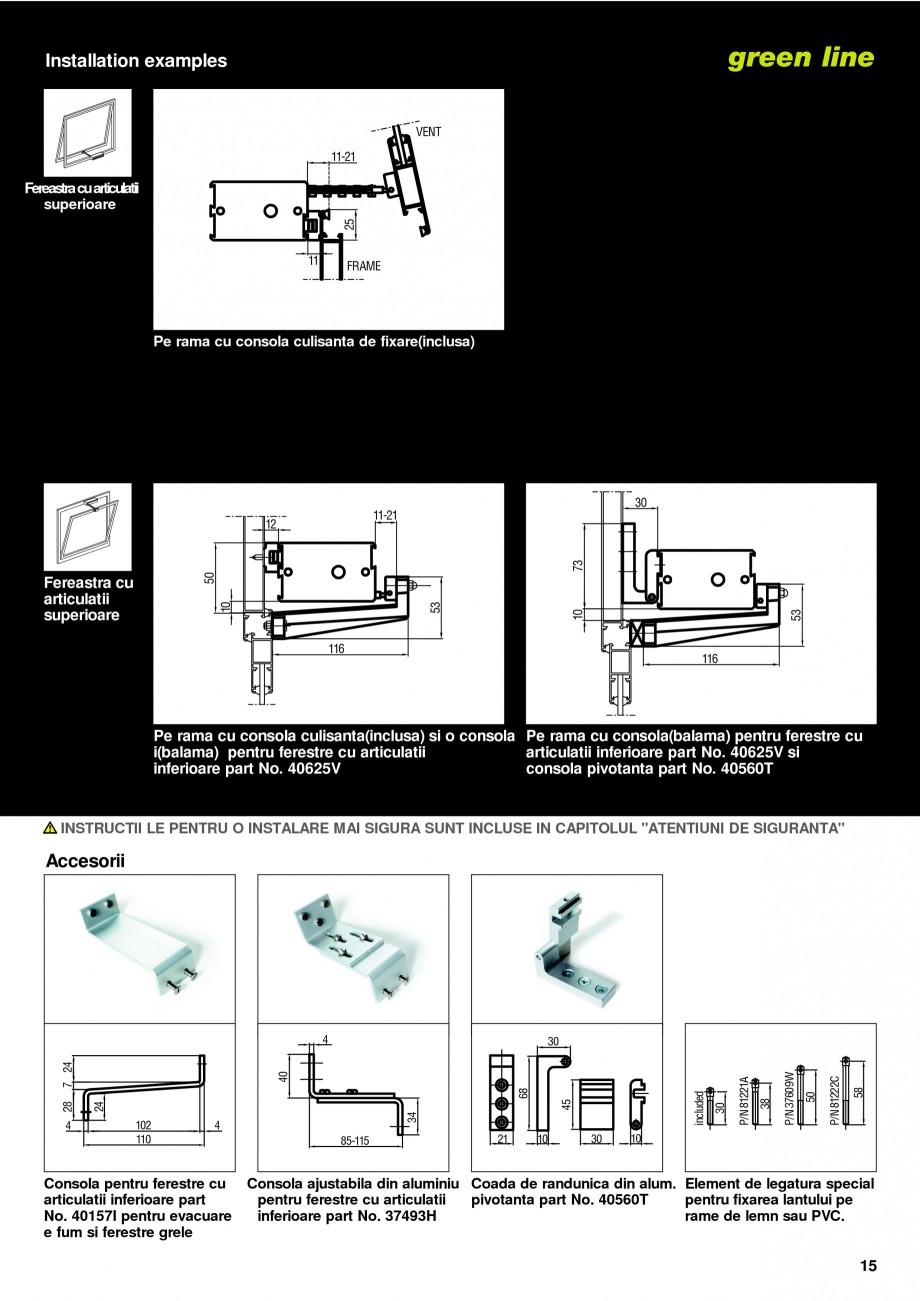 Pagina 12 -  Automatizari profesionale pentru ferestre KADRA Catalog, brosura Romana  AC ALIENTARE...