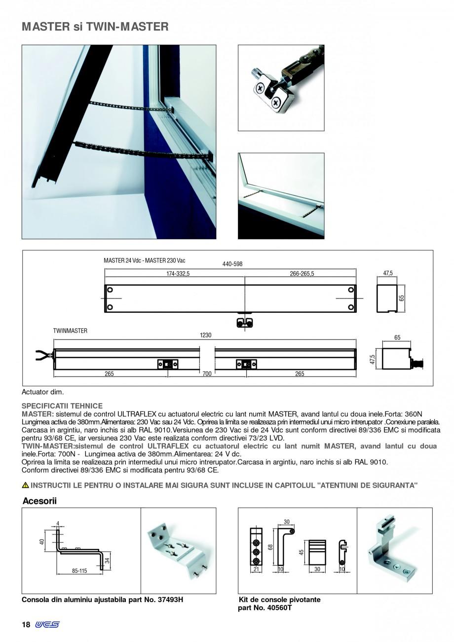 Pagina 15 -  Automatizari profesionale pentru ferestre KADRA Catalog, brosura Romana  mai mare forta...
