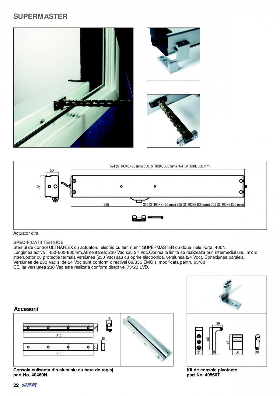 Pagina 19 -  Automatizari profesionale pentru ferestre KADRA Catalog, brosura Romana 36W, poate...