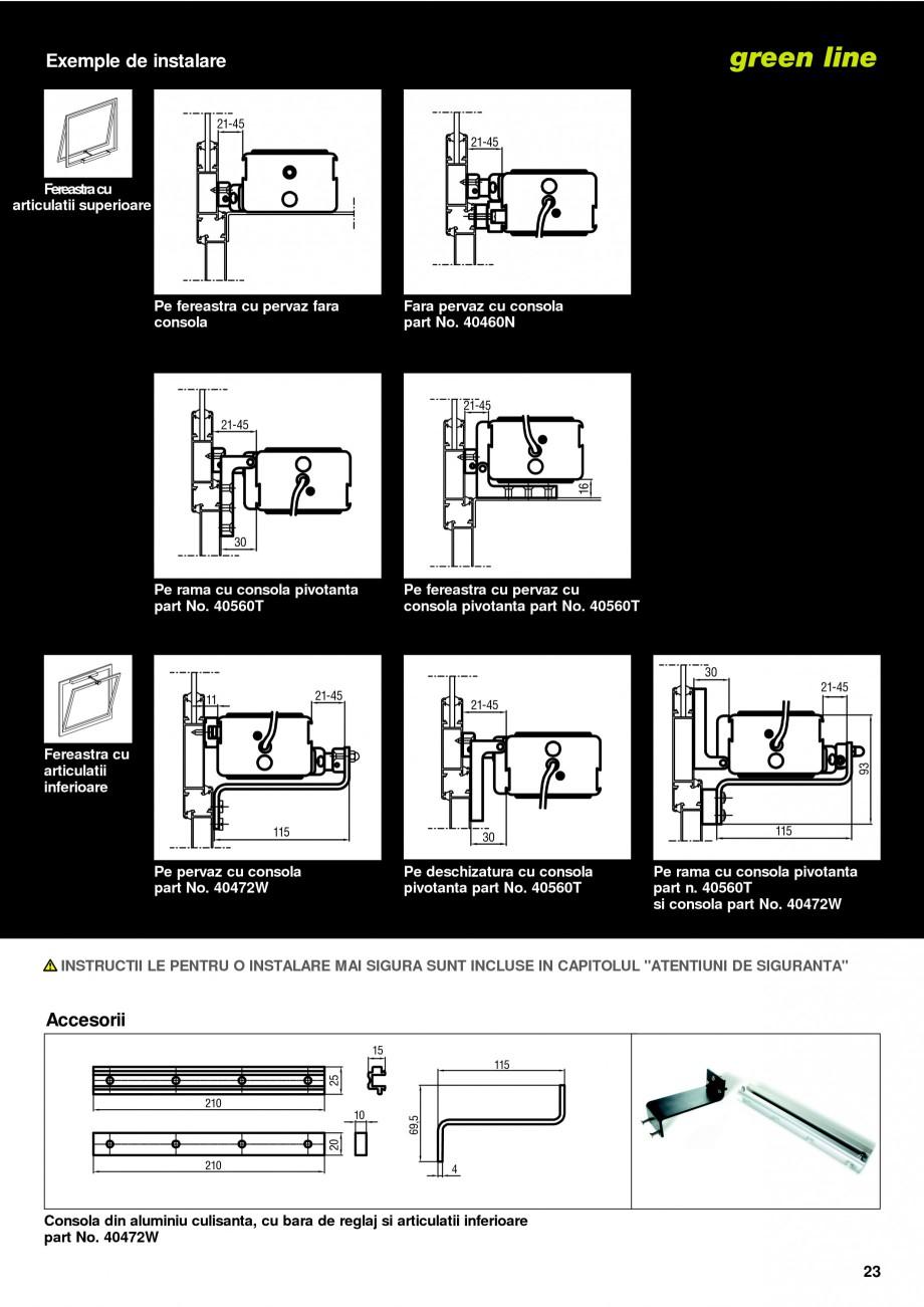 Pagina 20 -  Automatizari profesionale pentru ferestre KADRA Catalog, brosura Romana 9/336 EMC si...