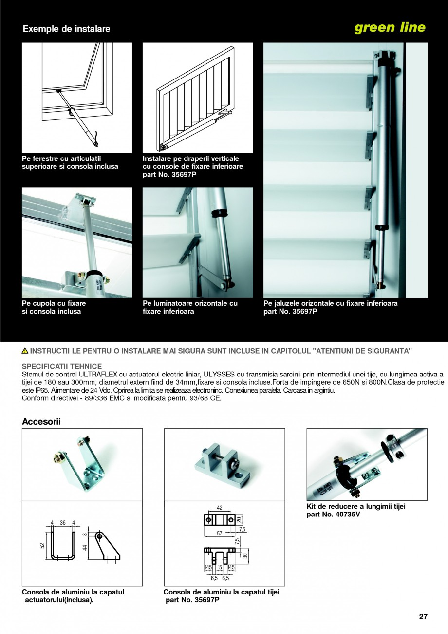 Pagina 24 -  Automatizari profesionale pentru ferestre KADRA Catalog, brosura Romana  50% IP 65 500 ...