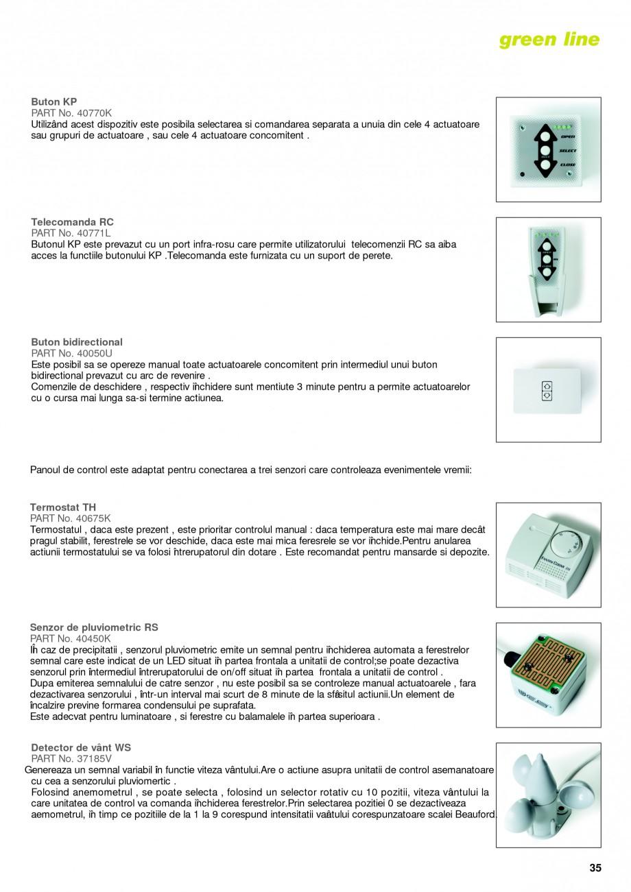 Pagina 32 -  Automatizari profesionale pentru ferestre KADRA Catalog, brosura Romana n suport de...