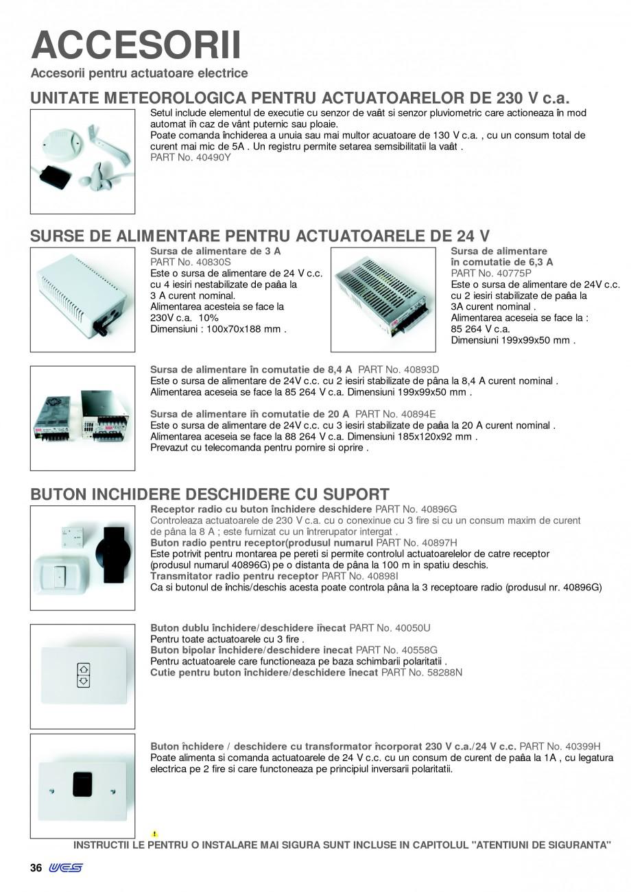 Pagina 33 -  Automatizari profesionale pentru ferestre KADRA Catalog, brosura Romana partea frontala...