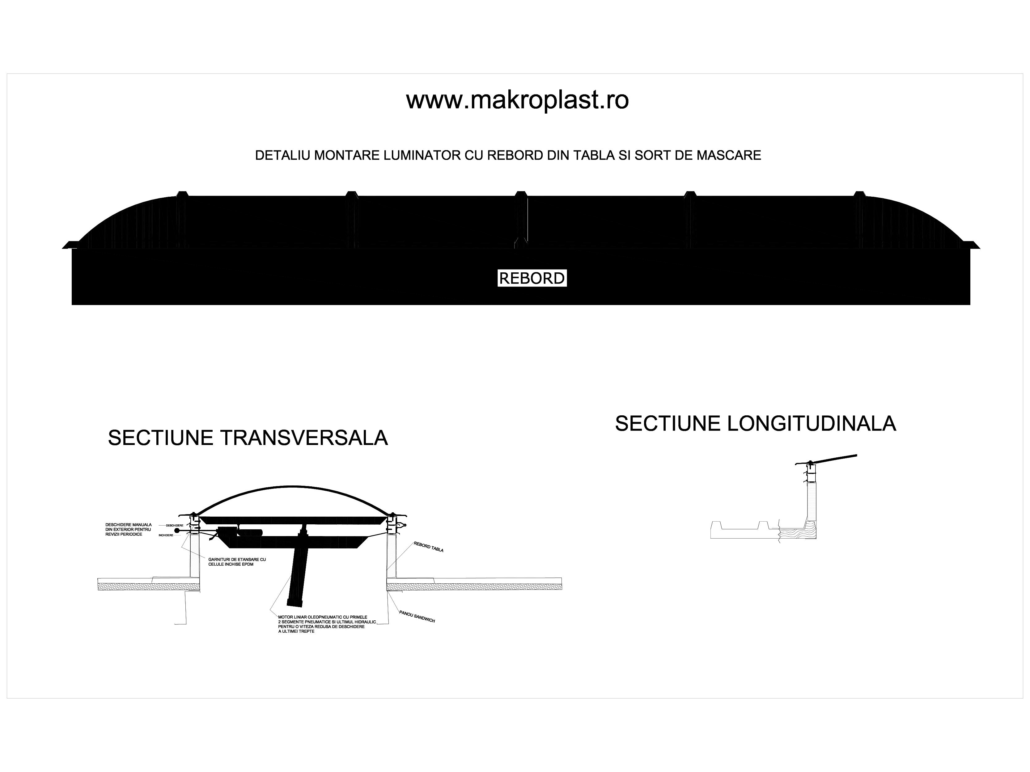 Pagina 1 - CAD-DWG Detaliu montare luminator cu rebord din tabla si sort de mascare KADRA Detaliu de...