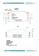 Luminator componibil din policarbonat celular MAKROPLAST