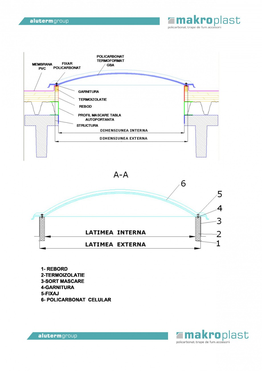 Pagina 1 - Luminator componibil din policarbonat celular     KADRA Fisa tehnica Romana