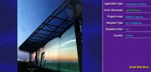 Pereti cortina, din placi de policarbonat MULTICELL DANPALON - Poza 2