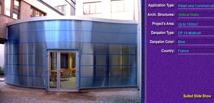 Pereti cortina, din placi de policarbonat MULTICELL DANPALON - Poza 19
