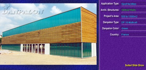 Pereti cortina, din placi de policarbonat MULTICELL DANPALON - Poza 24