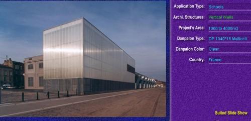 Pereti cortina, din placi de policarbonat MULTICELL DANPALON - Poza 31