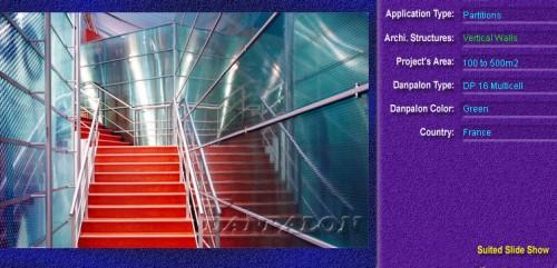 Pereti cortina, din placi de policarbonat MULTICELL DANPALON - Poza 41