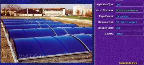 Luminatoare autoportante din placi de policarbonat DANPALON DANPALON - Poza 4