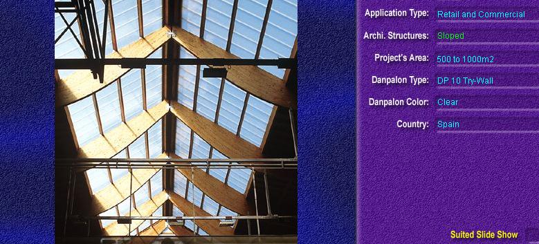 Luminatoare cu panta, din placi de policarbonat TRY WALL DANPALON - Poza 3