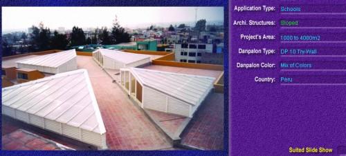 Luminatoare cu panta, din placi de policarbonat TRY WALL DANPALON - Poza 15