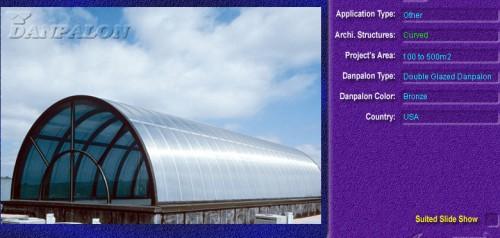 Luminatoare semicilindrice, din placi de policarbonat DOUBLE GLAZURED DANPALON - Poza 13