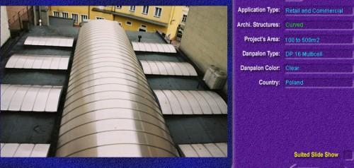 Luminatoare semicilindrice, din placi de policarbonat MULTICELL DANPALON - Poza 5