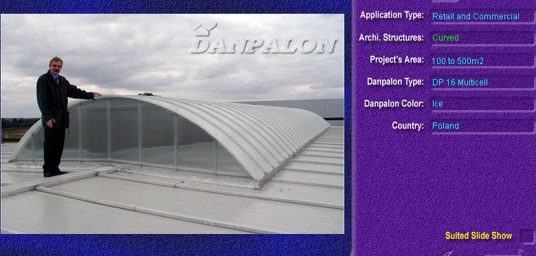 Luminatoare semicilindrice, din placi de policarbonat MULTICELL DANPALON - Poza 15