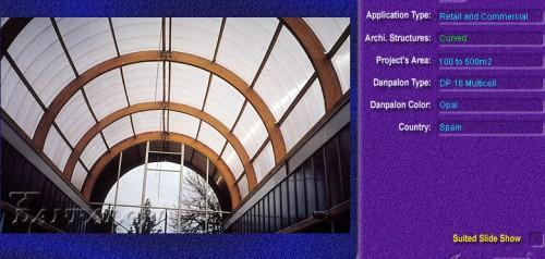 Luminatoare semicilindrice, din placi de policarbonat MULTICELL DANPALON - Poza 19