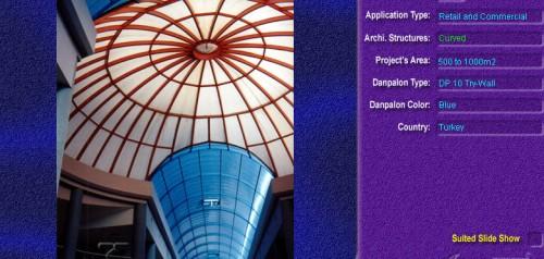Luminatoare semicilindrice, din placi de policarbonat TRY WALL DANPALON - Poza 1