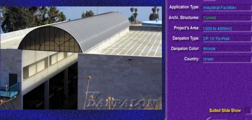 Luminatoare semicilindrice, din placi de policarbonat TRY WALL DANPALON - Poza 4