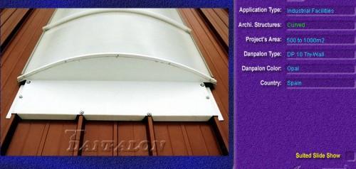 Luminatoare semicilindrice, din placi de policarbonat TRY WALL DANPALON - Poza 13