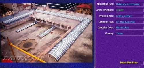 Luminatoare semicilindrice, din placi de policarbonat TWIN WALL DANPALON - Poza 2