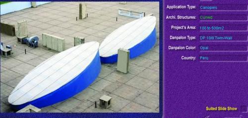 Luminatoare semicilindrice, din placi de policarbonat TWIN WALL DANPALON - Poza 5