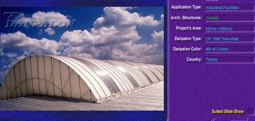 Luminatoare semicilindrice, din placi de policarbonat TWIN WALL DANPALON - Poza 6