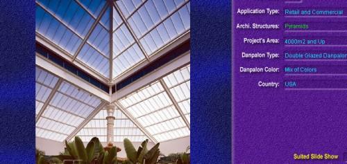 Luminatoare tip piramida, din placi de policarbonat DOUBLE GLAZURED DANPALON - Poza 1