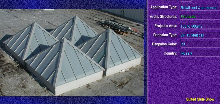 Luminatoare tip piramida, din placi de policarbonat MULTICELL DANPALON - Poza 1