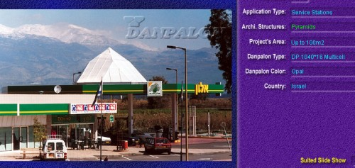 Luminatoare tip piramida, din placi de policarbonat MULTICELL DANPALON - Poza 2