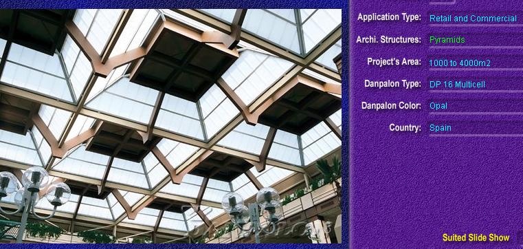 Luminatoare tip piramida, din placi de policarbonat MULTICELL DANPALON - Poza 4