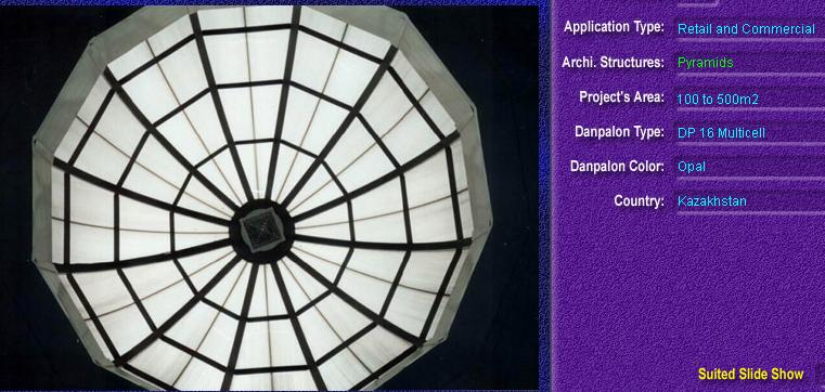 Luminatoare tip piramida, din placi de policarbonat MULTICELL DANPALON - Poza 5