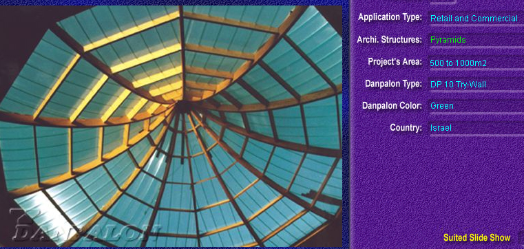 Luminatoare tip piramida, din placi de policarbonat TRY WALL DANPALON - Poza 3