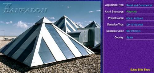 Luminatoare tip piramida, din placi de policarbonat TRY WALL DANPALON - Poza 6
