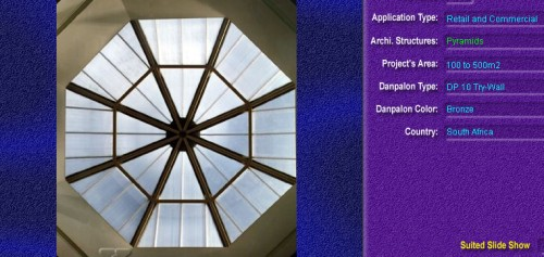 Luminatoare tip piramida, din placi de policarbonat TRY WALL DANPALON - Poza 10